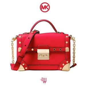 MICHAEL KORS Cori Small Trunk Bag Bright Red